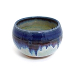 BLUE RIM INCENSE BOWL