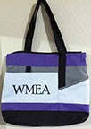 WMEA TOTE BAG  - purple and grey