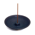 ROUND BLACK  INCENSE HOLDER