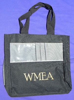 WMEA TOTE BAG - black and grey